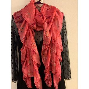 Juicy Couture Silk Flora Scarf Pink